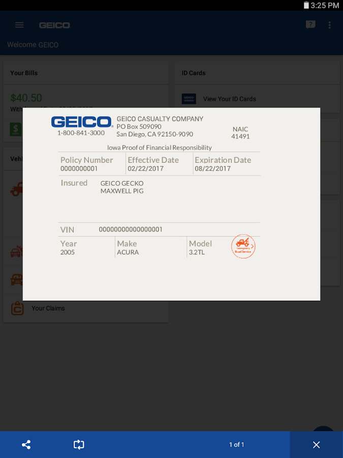 GEICO Mobile- screenshot