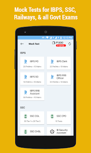 IBPS, SSC, Railway RRB: Mock Tests & Exam Prep App Screenshot