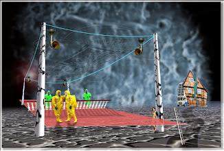 Photo: 2005 12 27 - R 04 08 18 A99 w - D 066 - Juchnelda auf dem Tennisplatz