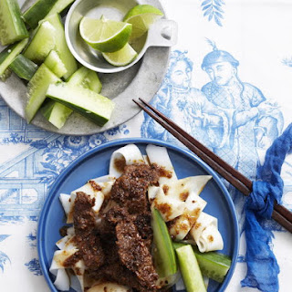 Lemongrass Beef with Rice Noodles.