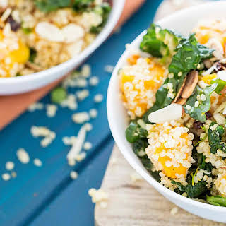 Quinoa with Kale and Roasted Butternut Squash.