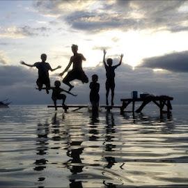 Perez Boyzzzzz by Dickson   Shia - Babies & Children Children Candids ( sunset, action, sea, beach, jump )
