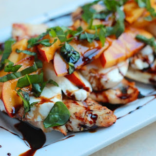Peach Caprese Grilled Chicken.