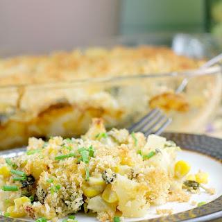 Chipotle Corn, Poblano, and Potato Gratin.