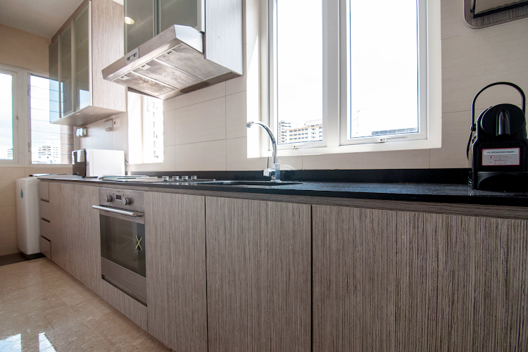 Fully equipped kitchen at Ava Road Apartments, Balestier