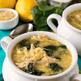 Greek Lemon Chicken Soup with Orzo.