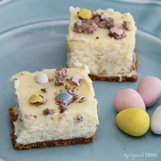 Mini Egg Cheesecake Bites.