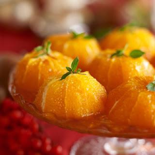 Oranges with Brandied Custard Sauce