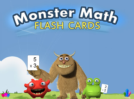 Monster Math Flash Cards