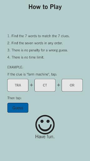 7 Little Words Express: A fun twist on crosswords 2.3.0 screenshots 1