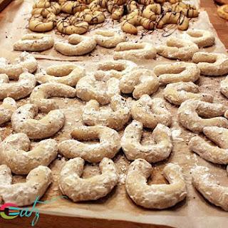 Austrian Vanillekipferl Cookies.