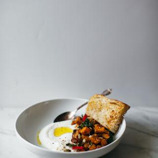 Roasted Pumpkin With Dukkah, Yogurt, And Fried Bread