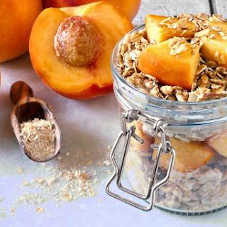 Peaches & Cream Overnight Oats.