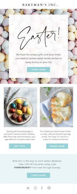 Unique Easter Gifts - Long Email item