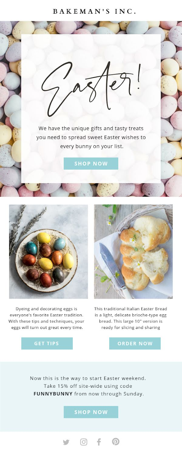 Unique Easter Gifts - Easter Template