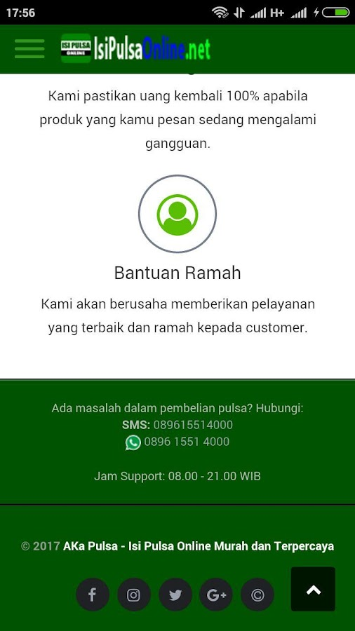 Isi Pulsa Online - 24 Jam Full- screenshot