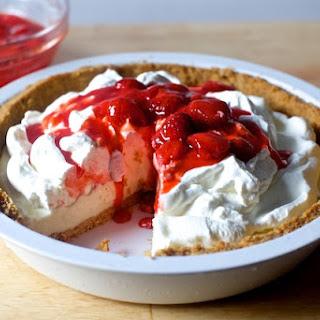 Strawberry Cheesecake Ice Cream Pie.