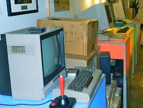 Photo: Google's vintage computer display