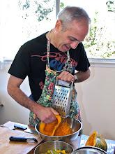 Photo: David grating the kabocha