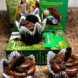 Decadent Girl Scout Thin Mints Cupcake with Whipped Ganache