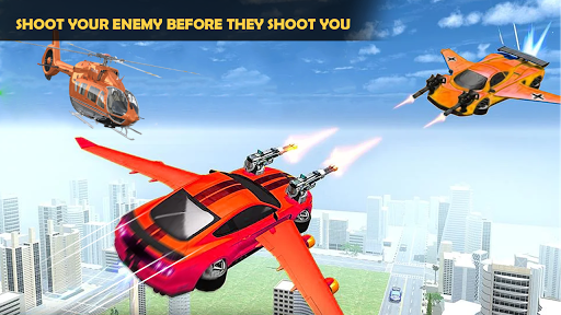 Flying Car Shooting Game: Modern Car Games 2020 apkmr screenshots 8