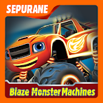 Blaze Light Truck Monster Machine Games Icon