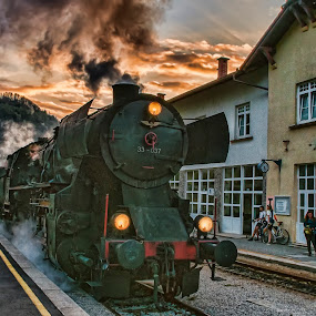 Muzejski vlak by Milan Mihalič - Transportation Trains