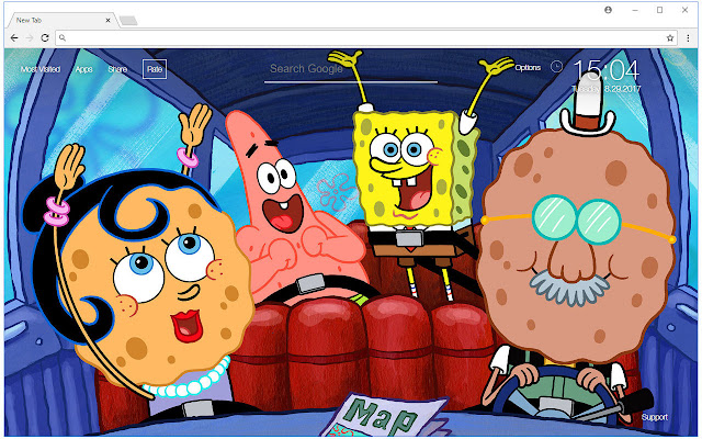 Spongebob Squarepants Wallpaper Hd New Tab Free Addons