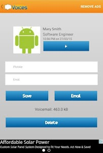 Voices Visual Voicemail screenshot 2
