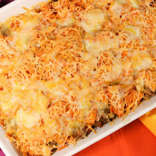 Ground Beef Doritos Casserole.