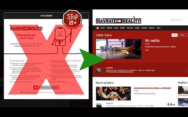 NávratDoReality.cz Adult-Only Notice Remover