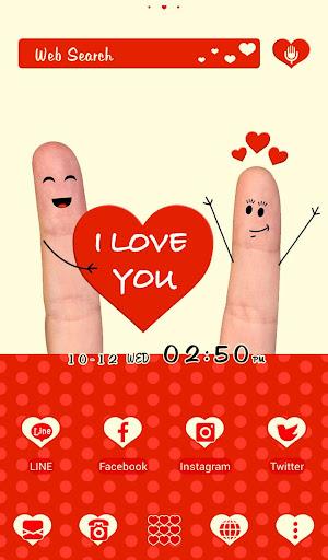 I Love You+HOME無料きせかえ