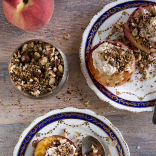 Griddled Peaches with Cinnamon Mascarpone