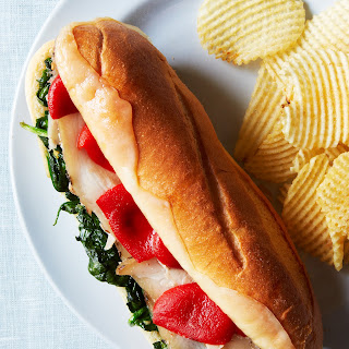 Herb-Roasted Pork Subs with Garlicky Spinach