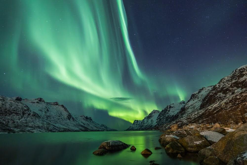 Uma aurora boreal |
