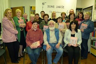 Photo: Srečanje bralnega kluba za odrasle s pisateljem Tonetom Jakšetom v Ljudski knjižnici Metlika.