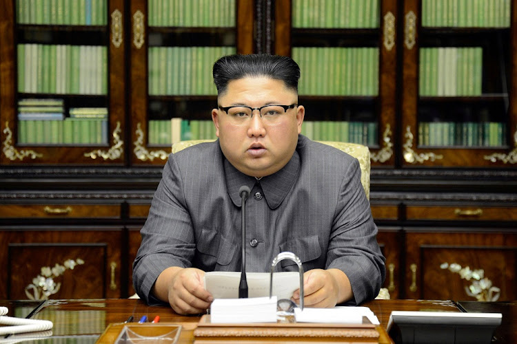 FILE PHOTO: North Korea's leader Kim Jong Un makes a statement regarding U.S. President Donald Trump's speech at the U.N. general assembly, in this undated photo released by North Korea's Korean Central News Agency (KCNA) in Pyongyang September 22, 2017.