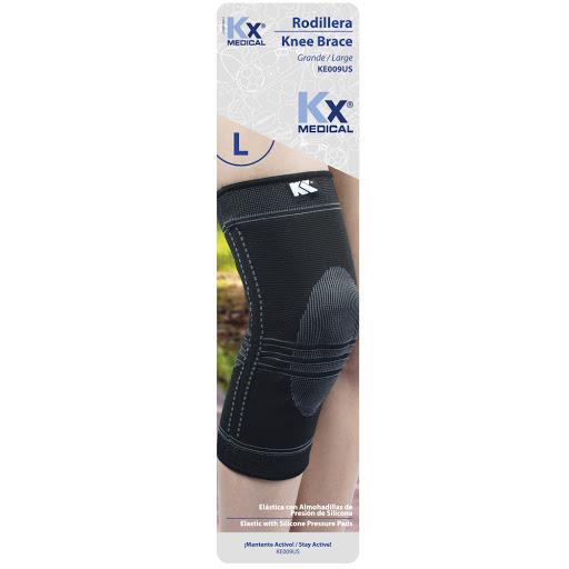 rodillera elastica almohadillas silicon kx sin latex talla g