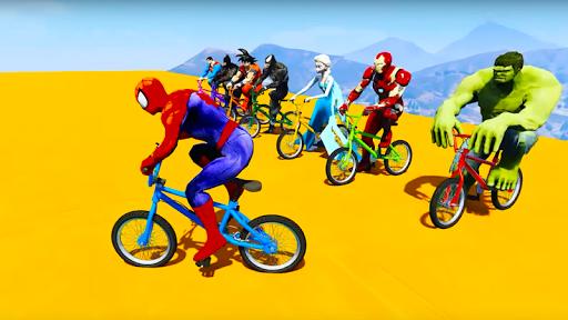 Superhero Bmx Racing Simulator game 1.2 screenshots 1