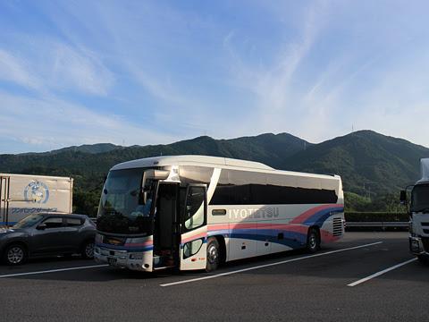 伊予鉄南予バス「道後エクスプレスふくおか号」 5388 桜三里PAにて その1