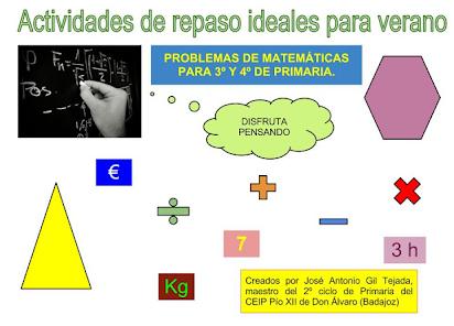 Ejercicios de repaso para 3º matemáticas