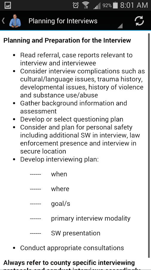 Basic Interviewing for SWs- screenshot