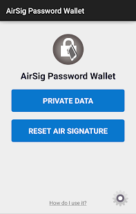 AirSig Password Manager - náhled