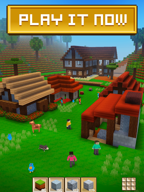 Block Craft 3D: Building Simulator Games For Free Android App Screenshot