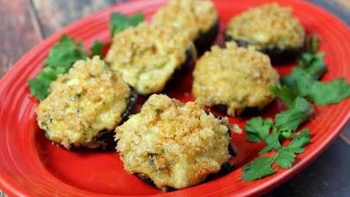Crab Stuffed Mushrooms - Keto Friendly