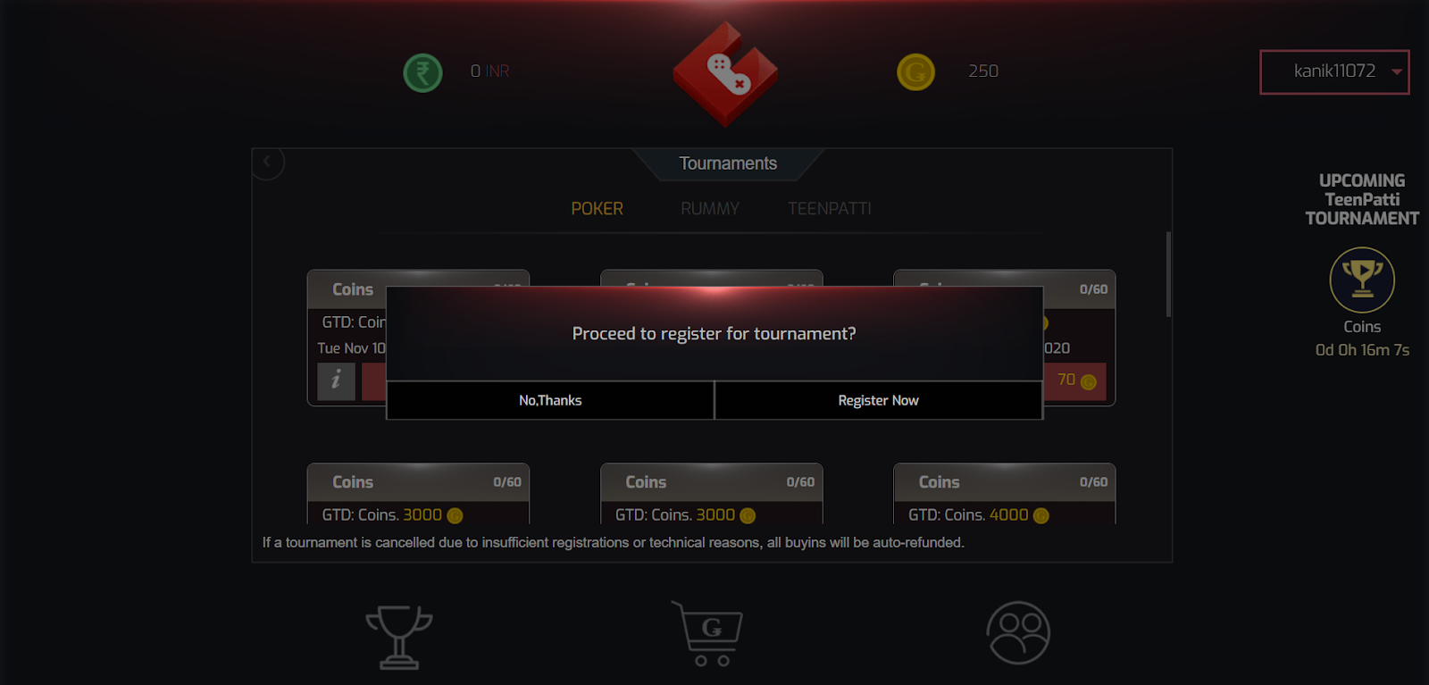 : Buy or earn coins on Gamentio