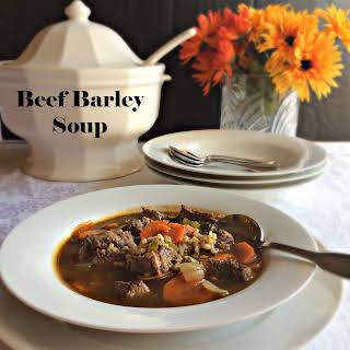 Beef Barley Soup.