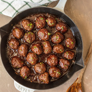 Sweet and Spicy Cranberry Cocktail Meatballs.