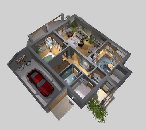 APS 112 - Rzut parteru 3D