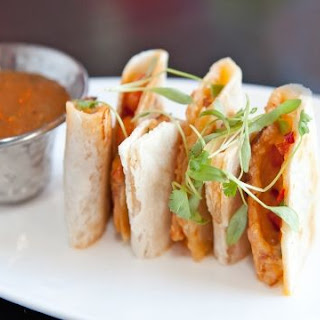 Richard Sandoval's Rock Shrimp and Bacon Quesadilla